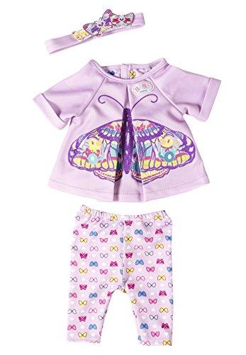 Zapf Baby Born Butterfly Set Juego de ropita para muñeca - Accesorios para muñecas (Juego de ropita para muñeca, 3 año(s), Lila, Violeta, 43 cm, Chica, 3 Pieza(s))