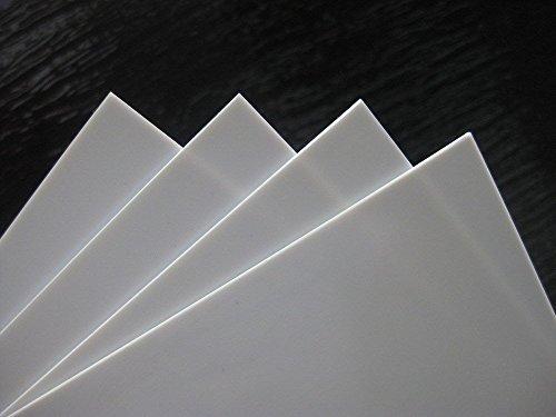 ABS0915 NEU 4x ABS Platten 200 x 250 x 1.5 mm weiss