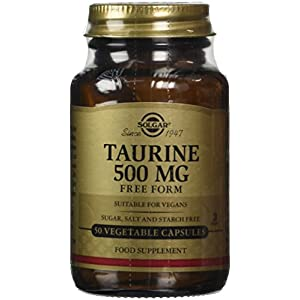 414JG3Gnd0L. SS300  - Solgar Taurine 500 mg Vegetable Capsules - Pack of 50