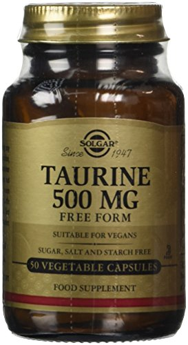 Solgar 500 mg Taurine Vegetable Capsules – 50 Capsules