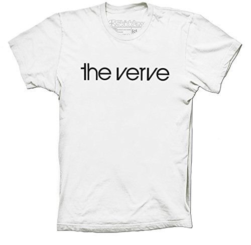 "Unisex T-Shirt ""The Verve""-Bandlogo, Brit-Pop-/Rock-T-Shirt, Richard Ashcroft Forth, weiß"