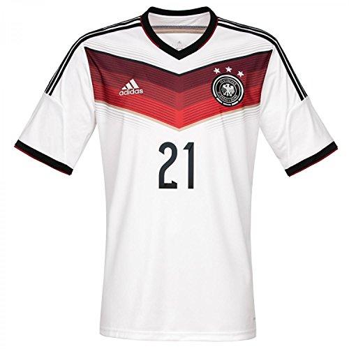 adidas Herren Trainingsshirt DFB Trikot Home Reus WM, Weiß / Rot, XXL, D04267 (Fußball-shirt Brasilien Heim)