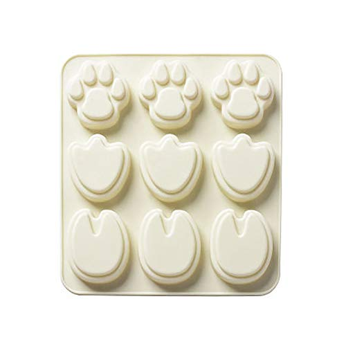 form Tier-Bär Pfotenform Schokolade Süßigkeiten Keks Backwerkzeug beige ()