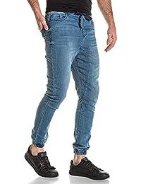 BLZ jeans - Jogger pant homme bleu délavé