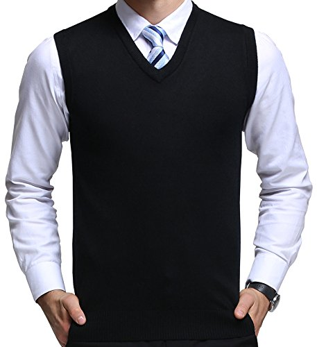 FULIER Mens Winter V-Neck Sleeve...