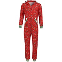 uBabamama Autumn Sale!!! Family Matching Christmas Cartoon Outfits Long Sleeve Half Zipper Jumpsuit Hooded Pullover with A Big Pocket Mommy Dad & Kids(Men,XL)