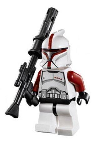 LEGO® Star Wars Minifigure Red Clone Trooper Captain from Republic Gunship (75021)
