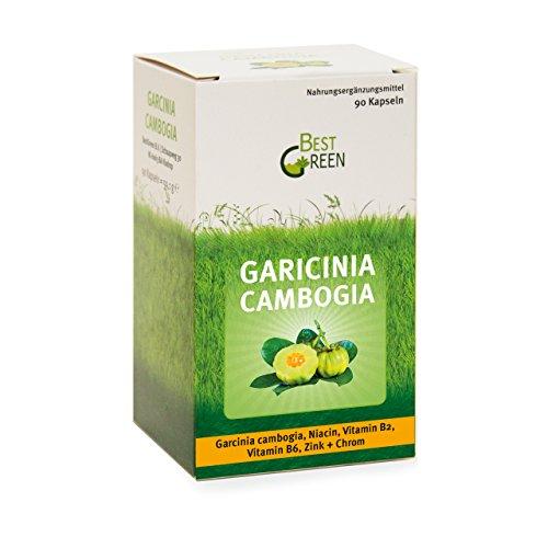 Garcinia Cambogia – 90 hochdosierte Kapseln – 1500 mg reines Garcinia Cambogia Extrakt pro Tagesdosis – kombiniert mit Niacin, Zink und Chrom sowie den Vitaminen B2 und B6 für optimale Wirkung