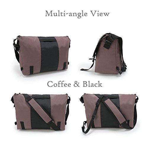 ENKNIGHT , Borsa Messenger  azul marino/negro Medio tamaño cafe/negro Medio tamaño
