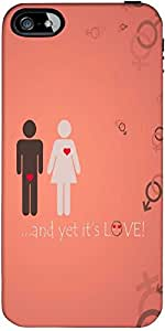 Snoogg And Yet Its Love Designer Protective Back Case Cover Forapple Iphone 4...