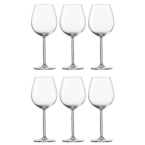 Schott Zwiesel 104096 Rotweinglas / Wasserglas 'Diva', 612ml, H 24,5cm (6 Stück) -