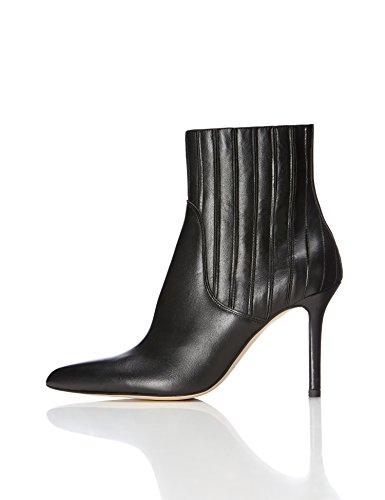 Stiefel Dame (FIND Damen Stiefel mit Absatz, Schwarz (Black), 38)