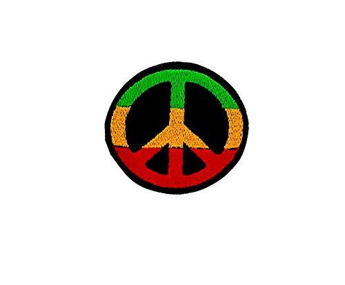 Patch Ecusson-gesticktem zum Aufbügeln Backpack Rasta Reggae Äthiopien Löwe Peace (Patch äthiopien)