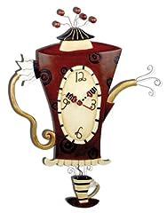 Idea Regalo - Allen Designs C652 Orologio Teiera Bollente Resina, Design di Michelle Allen, 42 cm