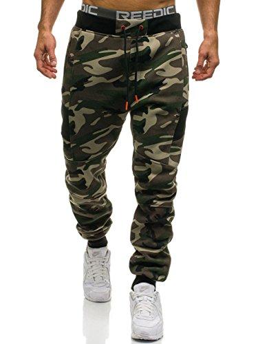 BOLF Herren Joggerhose Sporthose Camo Muster Militär T&C STAR 2111 Grün XL [6F6] (Camo Training Hosen)