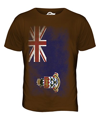CandyMix Cayman Islands Verblichen Flagge Herren T Shirt Braun