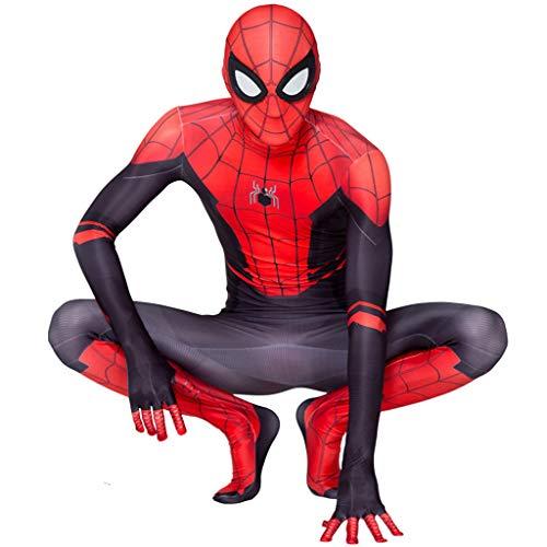 Kostüm Spinne Macht Dress Eine Fancy - YKJL Cosplay Overall kostüm Halloween Theme Party Fancy Dress Body Erwachsene bühnen Leistung Outfits Kleidung für Spider-Man fern von zu Hause,Adult,160