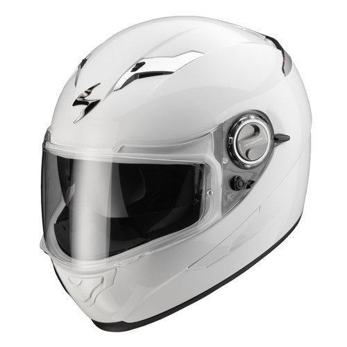 Casque intégral moto Scorpion Exo 500Solid Blanc Taille XL avec visière intérieure Pare-soleil à disparition