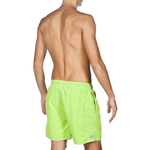 arena Herren Fundamentals Solid Boxer Badeshort Leaf-Turquoise
