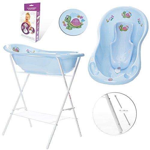 gofuture-babybadewanne-hohenverstellbarem-stander-badesitz-abflussset-abfluss-schlauch-happy-schildk