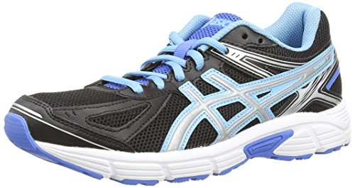 Asics Patriot 7, Women's Running Shoes, Onyx/Silver/Powder Blue, 5.5 UK, 7.5 US, 39 EU