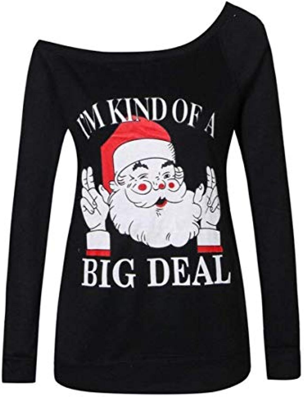 Emmala Eleganti Pullover Donna Top Autunno Streetwear off Stampate Shoulder  Primaverile Santa Digitale Stampate off Moda Camicia... 28d1fc 7b021ada452a