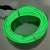 Funnyrunstore 3M Interior del coche Tira de luz 12V LED Luces frías Neón flexible EL Alambre Luces automáticas Línea de tira Decoración interior Tiras Lámpara (verde)