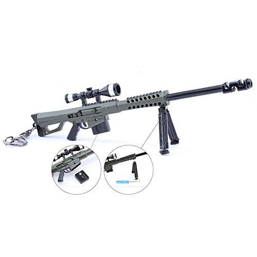 Juegos Metal 1/6 Metal Destroyer Sniper Rifle Gun Modelo Acción Figura Arte Juguetes Colección Llavero Regalo