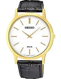 Seiko Solar SUP872P1 Reloj elegante para hombres Plano & ligero