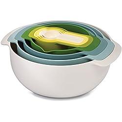 Joseph Joseph Nest 9 Plus Houseware bowl - Accesorio de hogar (Houseware bowl, Azul, Verde, Blanco, Amarillo, Universal, 320 mm, 145 mm, 270 mm)