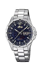 Lotus Watches Reloj Análogo clásico para Hombre de Cuarzo con Correa en Acero Inoxidable 18524/2