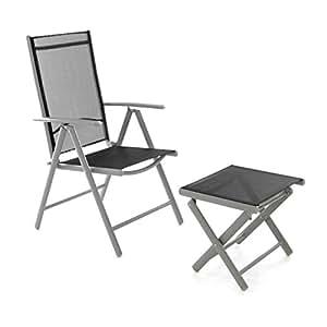 amazonde klappstuhl gartenstuhl campingstuhl liegestuhl With französischer balkon mit servierwagen garten klappbar