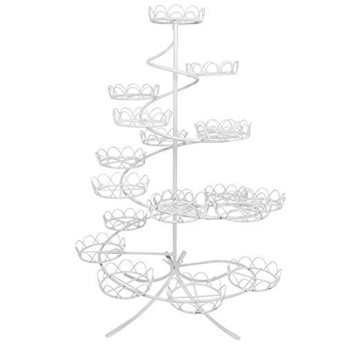 PME CS1005 Présentoir à Cupcakes Blanc à Spirale, Acier Inoxydable, White, 32 x 32 x 46 cm