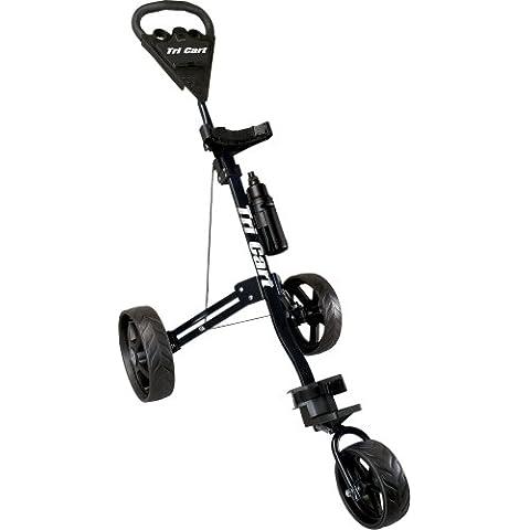 Tri Cart - Carrito de golf de 3 ruedas negro negro