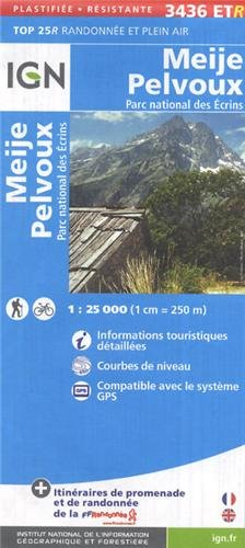 Meije / Pelvoux / PNR des Ecrins gps wp : IGN.P.3436ETR (Ign Map) par Institut Geographique National