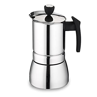 Cafe Ole by Grunwerg 9-Cup Italian Style Stainless Steel Espresso Coffee Maker