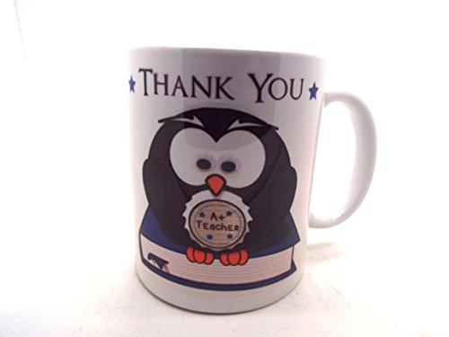 Con mensaje en inglés para profesor carcasa gris de búhos de cerámica taza extremo de gran duración/año diseño de muñeco con auriculares