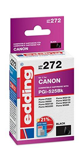 Preisvergleich Produktbild edding Tintenpatrone EDD-272 ersetzt Canon PGI-525BK - Schwarz - 20ml