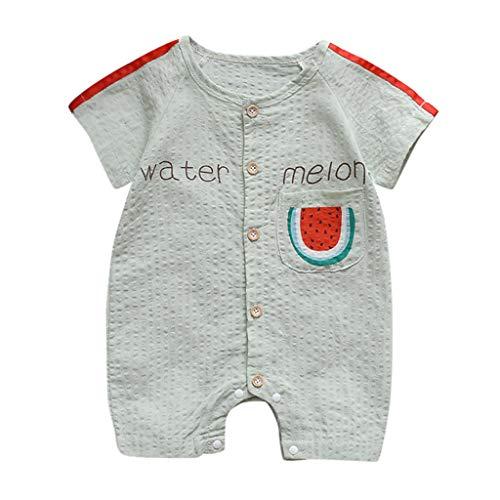 Zylione Kinder Overall Jungen Und MäDchen Baby Overall Mit Kurzen ÄRmeln Und Wassermelonen Muster