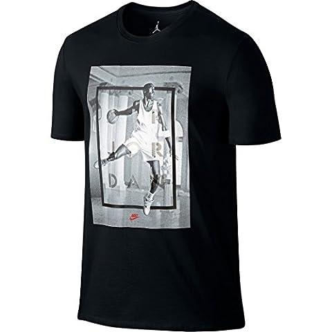 Nike Aj 4Hangtime T-Shirt Fitness- und Übung für Herren L schwarz / weiß (Nba Hangtime)