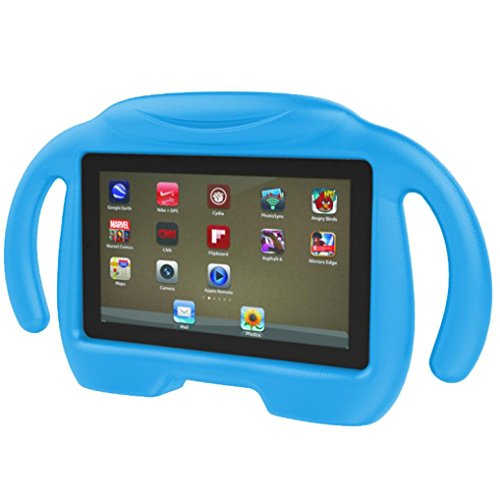 Zolimx Hülle für Amazon Fire 7 Tablet (7-Zoll, 7. Generation - 2017), Kinder Fall stoßfest leichte Gewicht Drop Schutz Kinder EVA Fall Abdeckung für Amazon Fire 7 Tablet (Blau) (Fall Generation 7 Kindle Feuer 2.)