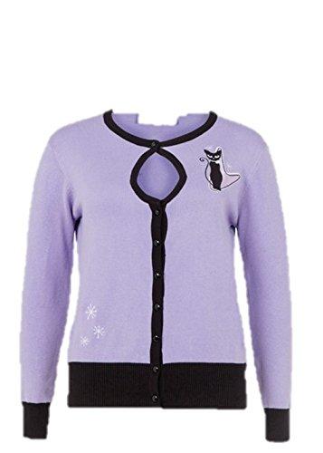 Voodoo Vixen - Isabella Lavender Spring Cat Cardigan S / Lavender