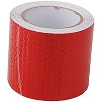 Alta Intensidad De Color Rojo Cinta Reflectante Etiqueta Pelicula Autoadhesiva 5cm De Vinilo * 3m