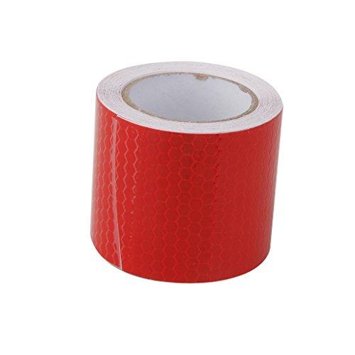 Alta Intensidad De Color Rojo Cinta Reflectante Etiqueta Pelicula Autoadhesiva 5cm De...