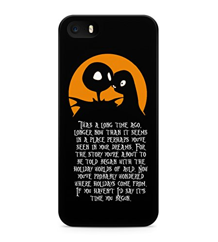 Nightmare Before Christmas Story Beginning Hard Plastic Snap On Back Case Cover For iPhone 5 / 5s Custodia