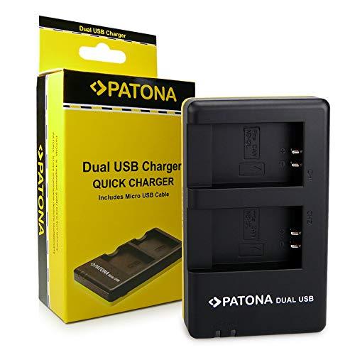 PATONA Cargador de batería Doble para Bateria NB-13L Adecuado para Canon PowerShot G1 X, G7 X, G9 X Mark II, LEGRIA Mini X