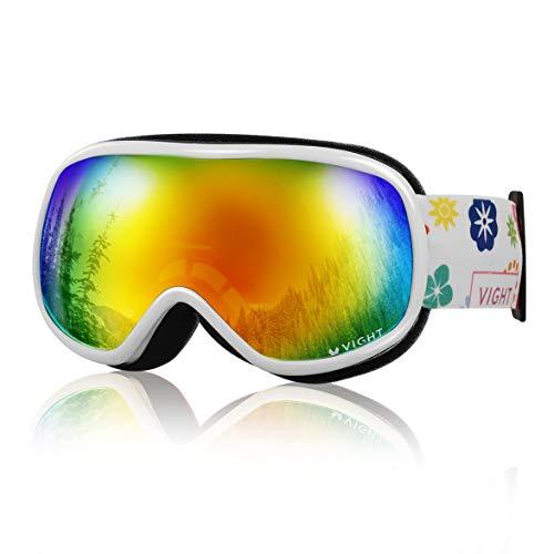 Kongqiabona Professionelle Bequeme Unisex Ultra-elastische Ski Brille Ski Schneebrille Staubfreie Linse P5007 für Kinder Outdoor
