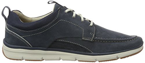 Clarks Orson Bay, Sneakers Basses Homme Bleu (Navy Nubuck)
