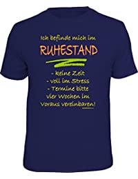 Original RAHMENLOS® T-Shirt für den aktiven Rentner: Bin im Ruhestand, keine Zeit…
