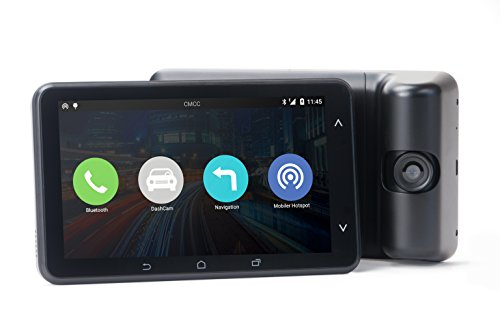 COCAR 4250262401190 Navigation Bluetooth 4.0, 13,9 cm (5,5 Zoll) Touch Display, Dash-Kamera inklusiv Halterung für Windschutzscheibe/Duo USB-Ladegerät schwarz